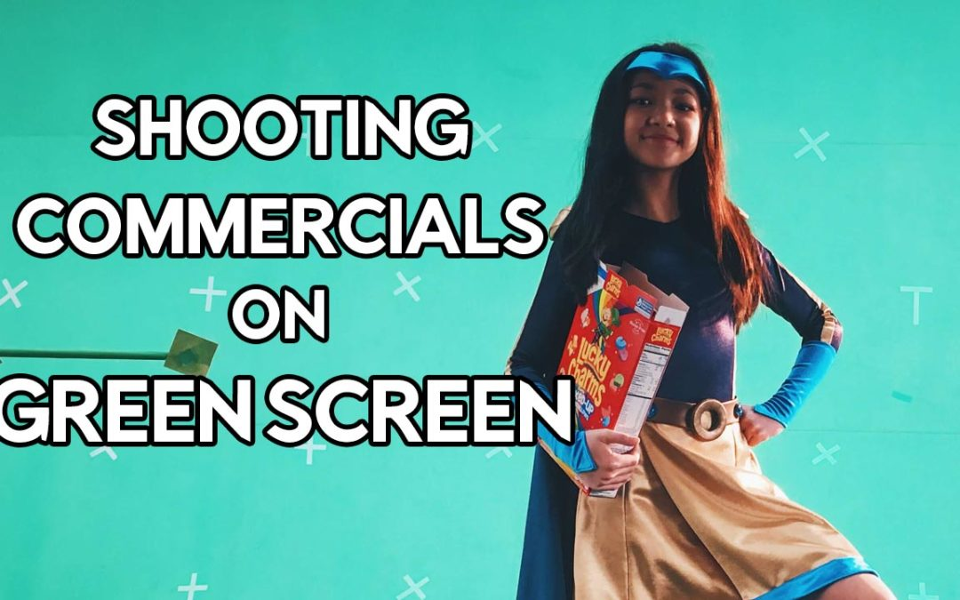 Commercial shoot using a green screen
